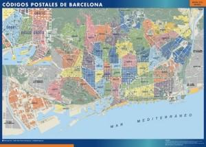 barcelona mapa códigos postales