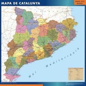 mapa cataluña