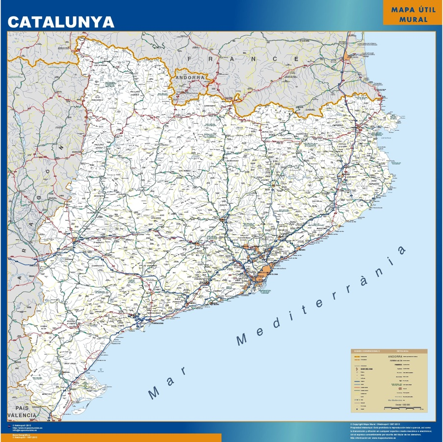Mapas catalunya carreteras Catalunya