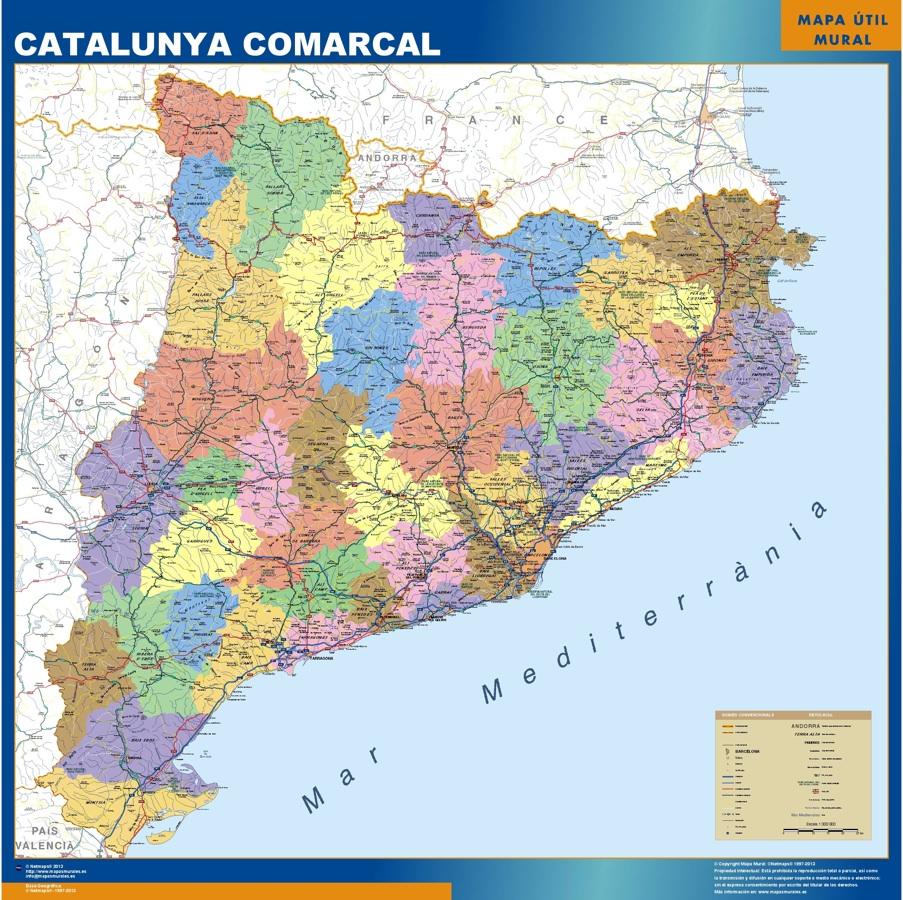 Mapas catalunya comarcal Catalunya