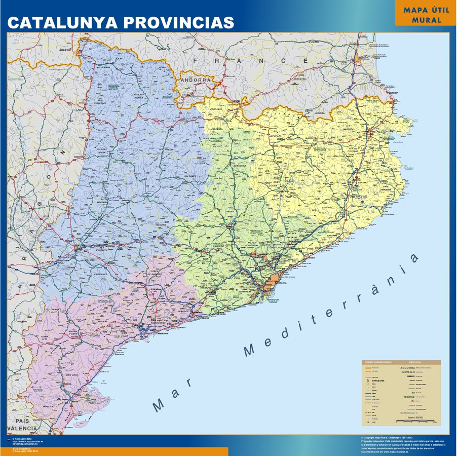Mapas catalunya provincias Catalunya