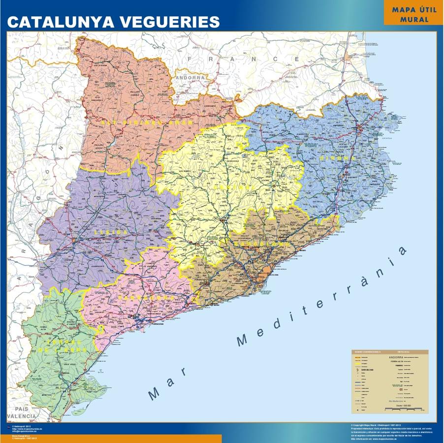 Mapas catalunya vegueries Catalunya