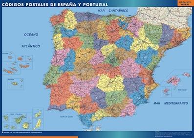 mapa enmarcados españa codigos postales