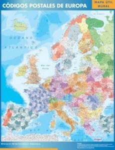 europa mapa códigos postales