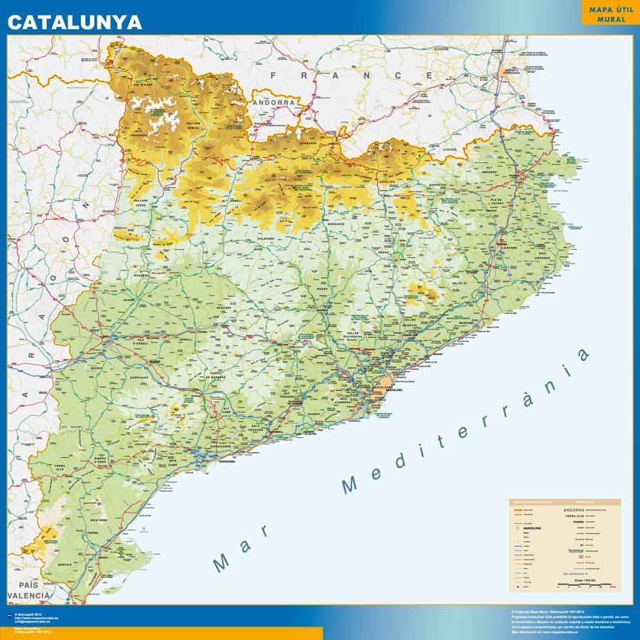 mapa Catalunya Fisico