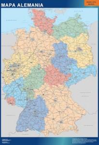 mapa alemania carreteras