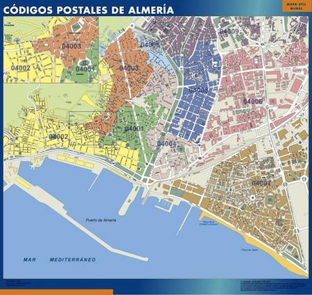 Mapa c digos postales de ciudades de espa a tienda mapas for Mapa codigos postales madrid capital