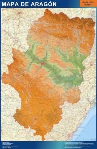 mapa aragon mural
