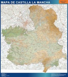 mapa castilla la mancha mural