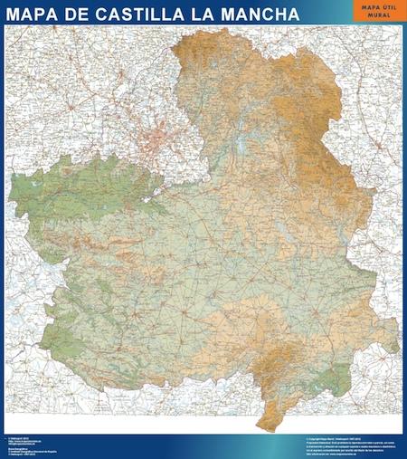 Mapa Castilla La Mancha Tienda Mapas