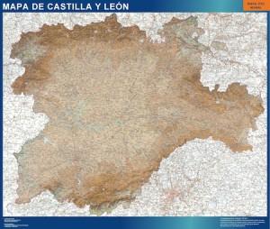 Mapa Castilla y León Relieve