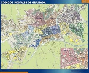 granada mapa códigos postales