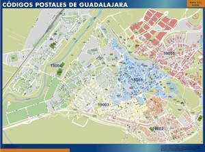 guadalajara mapa códigos postales
