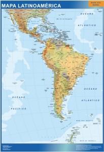 latinoamerica mapa mural