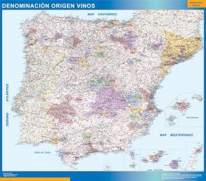 Mapa Espana Denominacion Origen Vinos