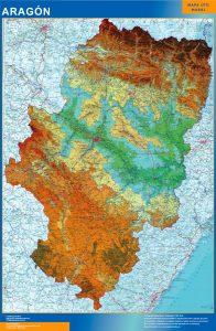 Mapa Gigante Aragon Relieve