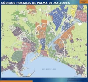 palma de mallorca mapa códigos postales