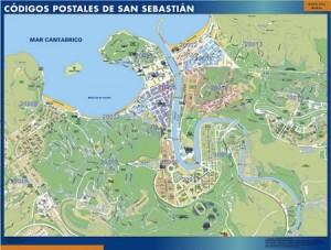 san sebastian donostia mapa códigos postales