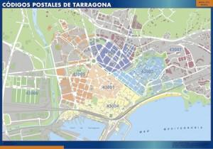 Tarragona mapa códigos postales