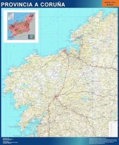 A Coruña mapa carreteras