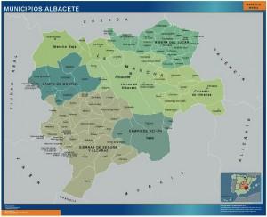 Mapa albacete municipios
