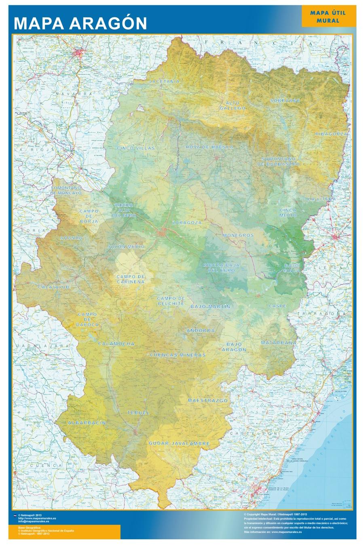 mapa aragon comarcal