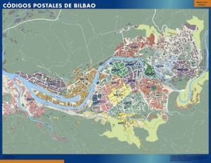 Bilbao mapa códigos postales