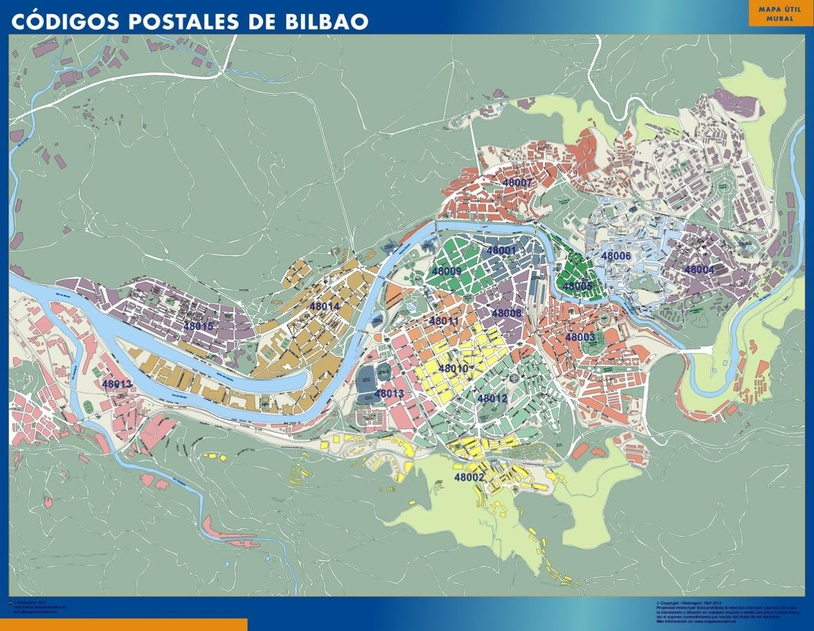Mapa c digos postales de bilbao mapas posters mundo y espa a for Codigo postal del barrio de salamanca en madrid