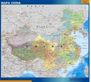 Mapa China mural