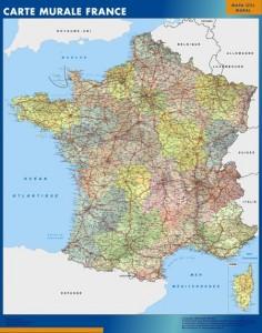 Francia mapa mural