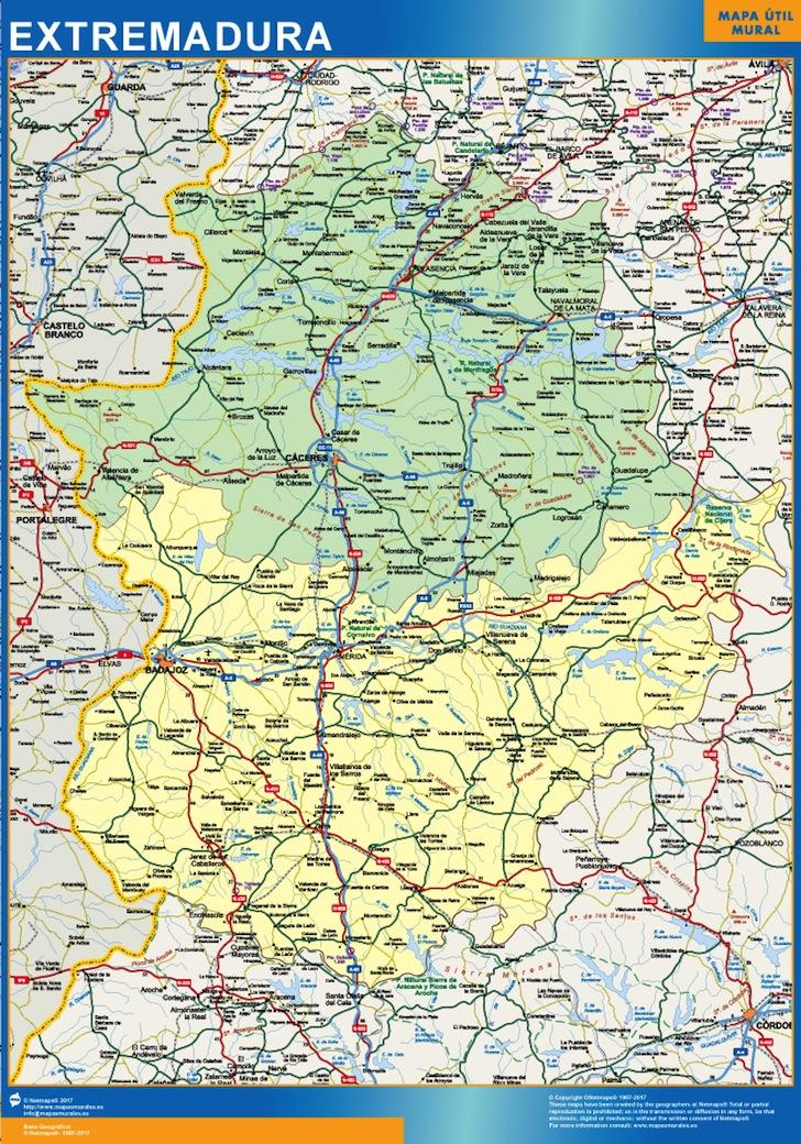 Mapa Extremadura Tienda Mapas