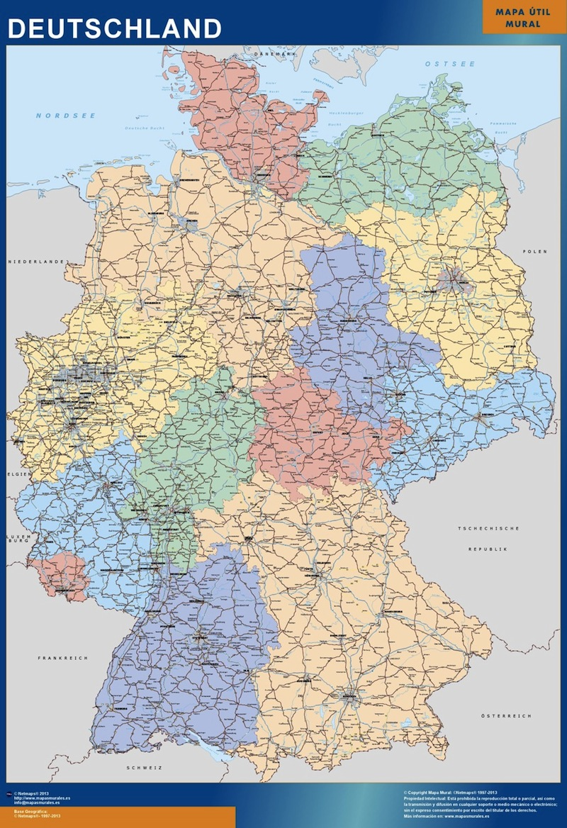Alemania - Mapa De Las Regiones