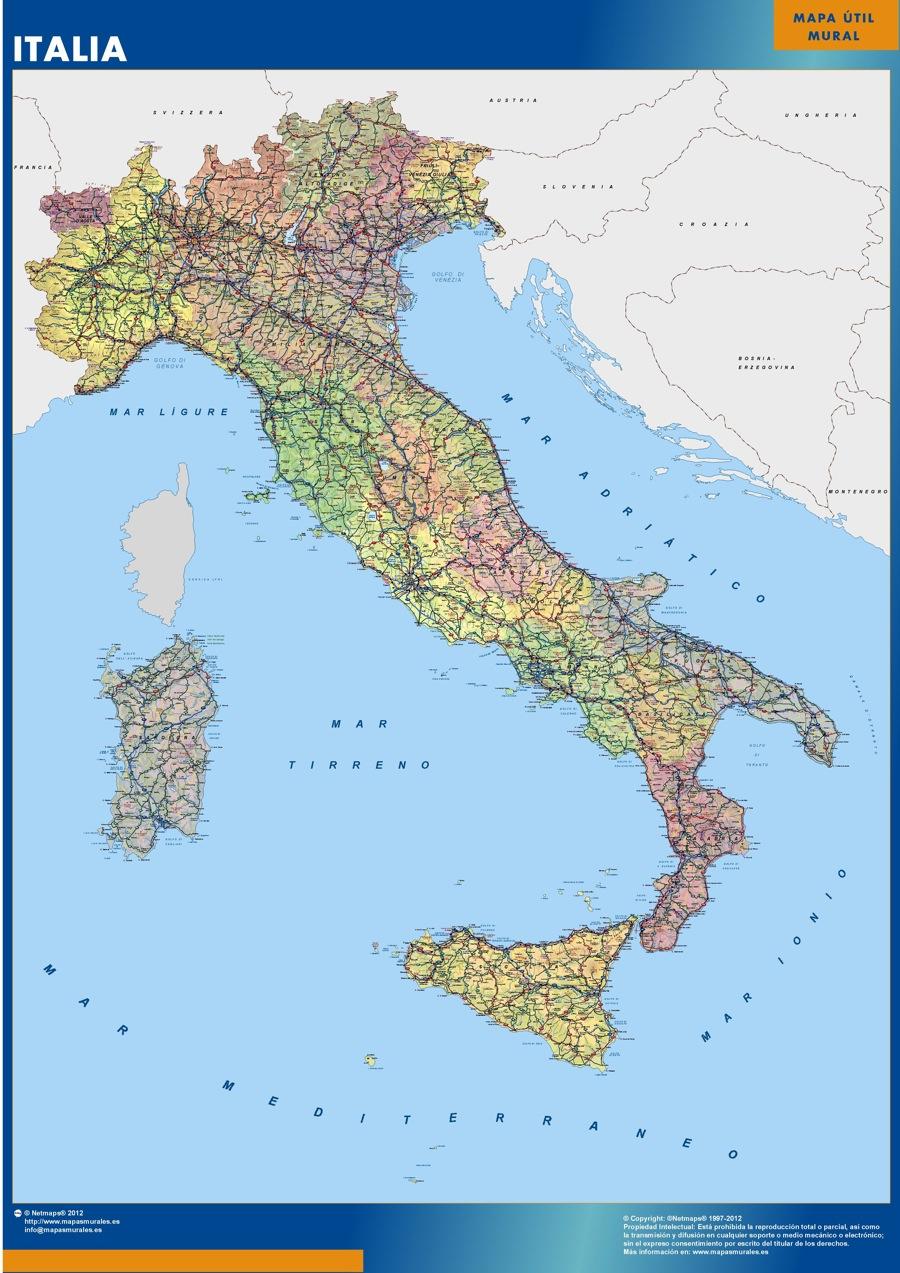 Italia mapas regionales italia italia norte italia central italia sur