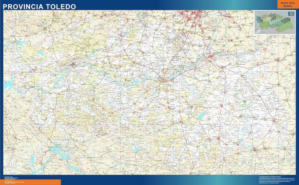 Mapa Politico De Toledo.Mapas Provincia Toledo Tienda Mapas