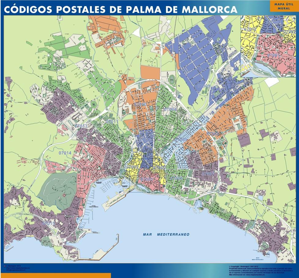 Mapas palma de mallorca mapas posters mundo y espa a for Codigo postal calle salamanca valencia