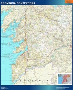 pontevedra mapa carreteras