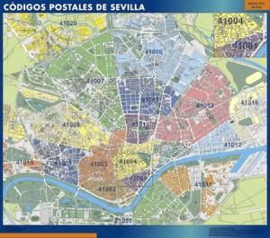 sevilla mapa códigos postales