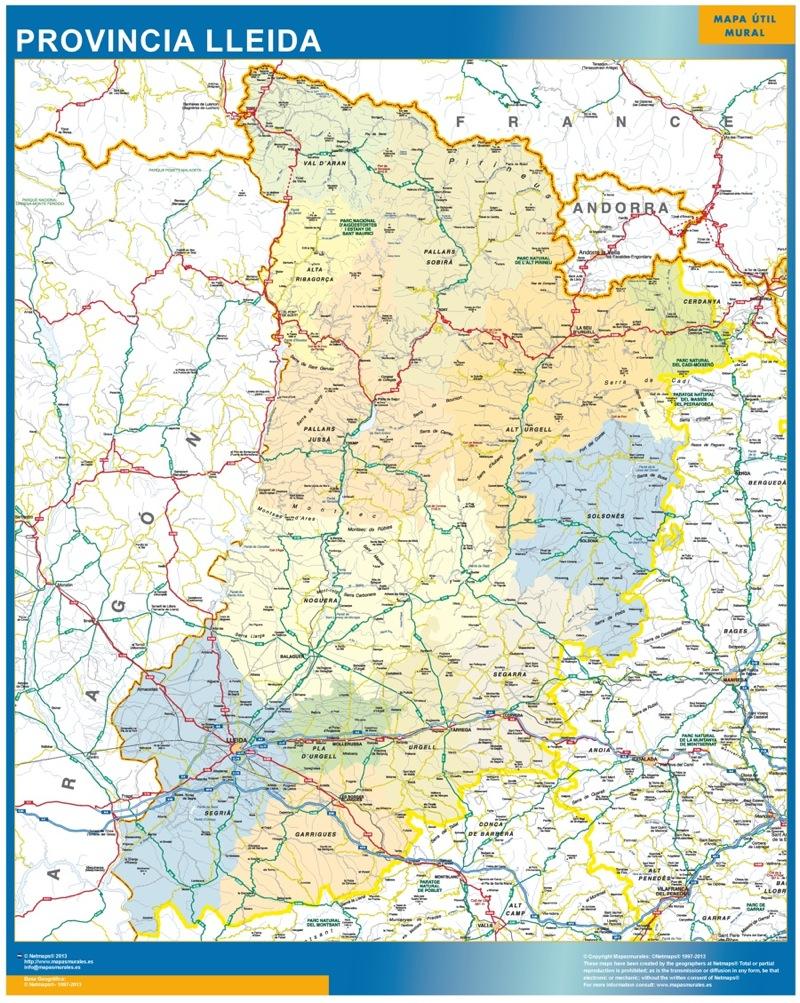 Mapas Provincia Lleida Lerida En Cataluna Tienda Mapas