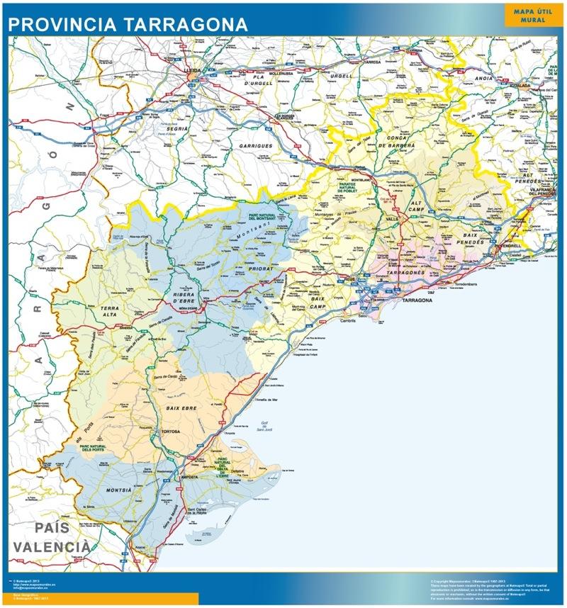 Mapas Tarragona provincia Tarragona