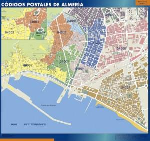 almeria mapa codigos postales