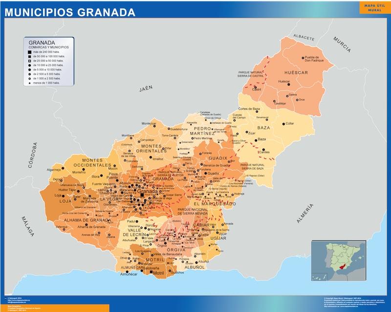 Mapas municipios granada Granada