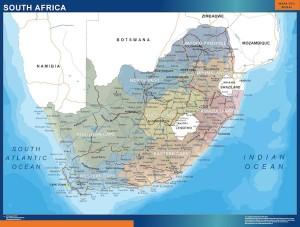sudafrica mapa mural
