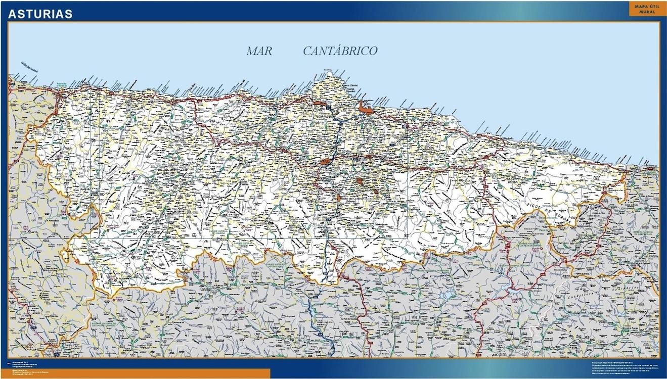 mapa asturias carreteras