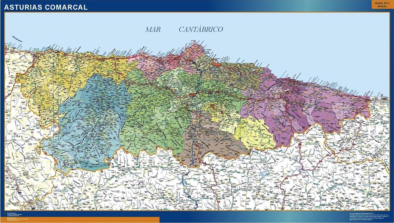 Mapas Asturias Tienda Mapas