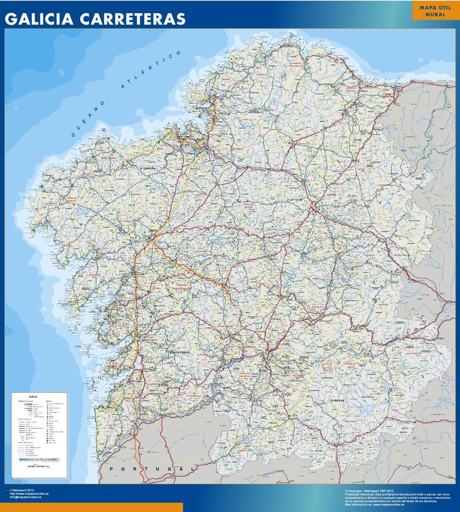 mapa galicia carreteras