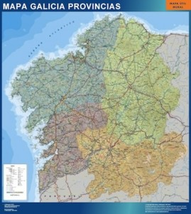 Mapa de Galicia Mural