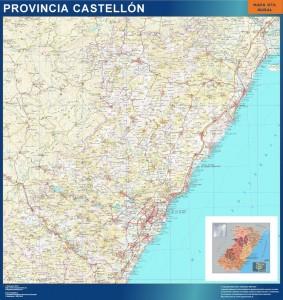 mapa mural provincia castellon