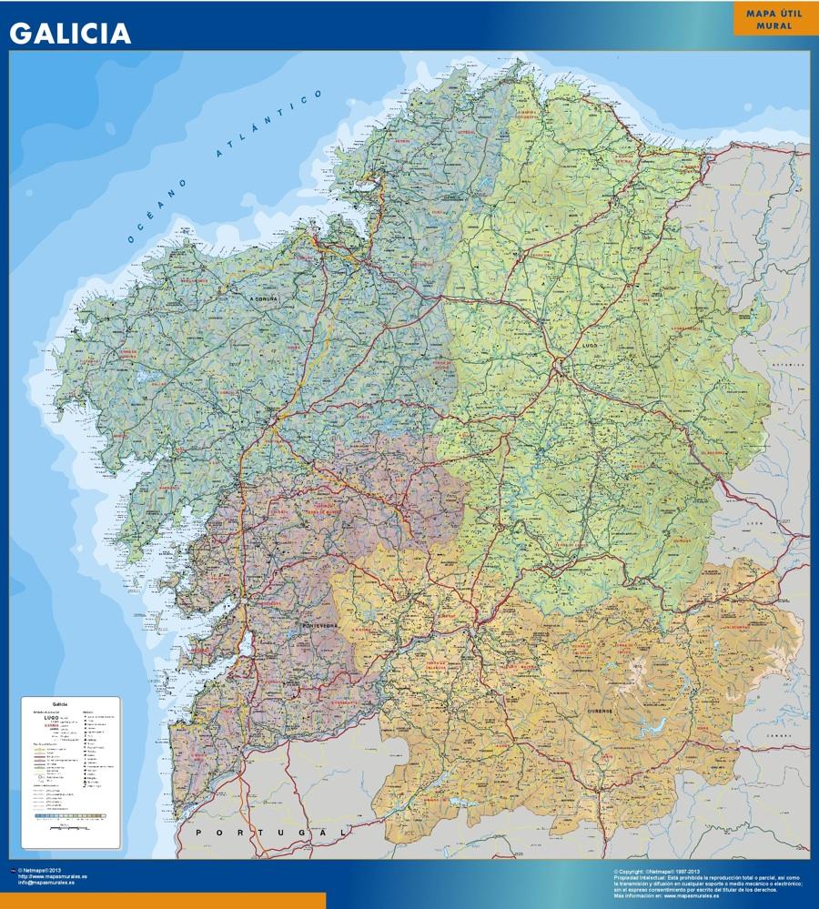 Mapas Galicia Tienda Mapas