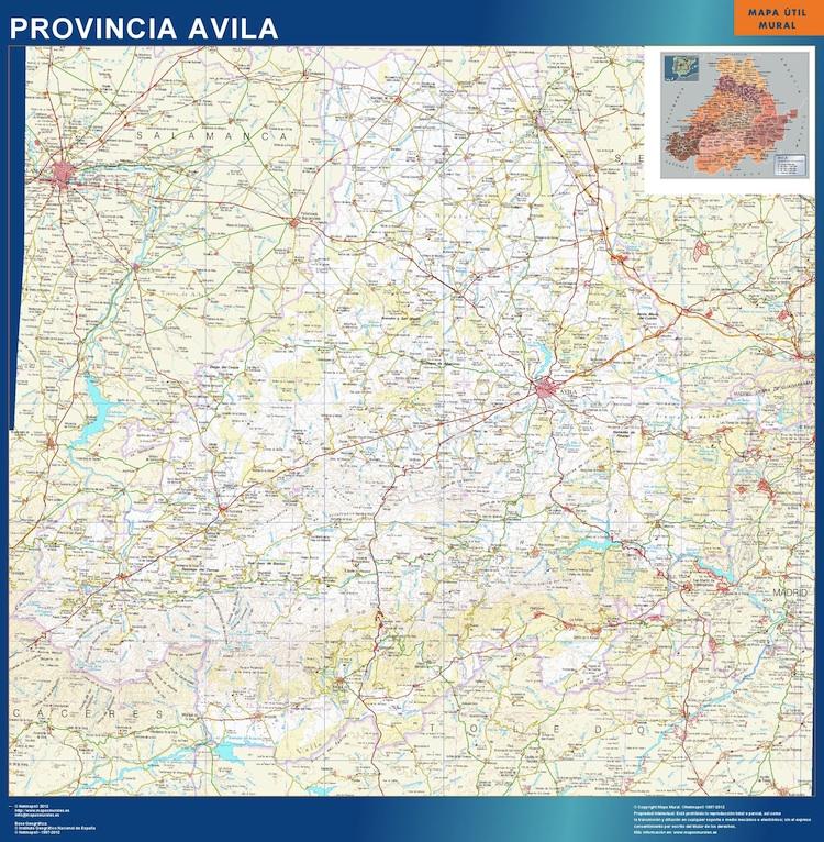mapa provincia avila