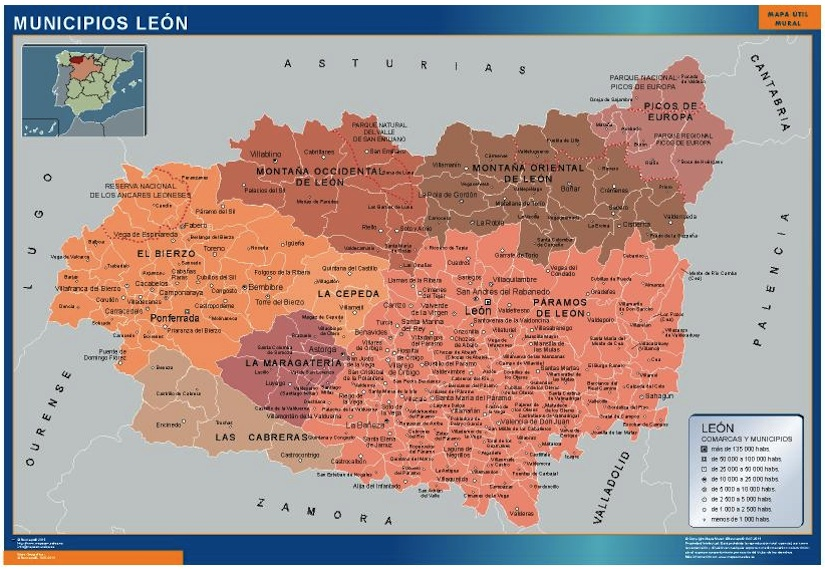 Mapa Leon municipios